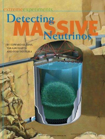 Detecting Neutrinos - Scientific American Digital