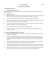Bidder Instructions for Small Value Quotes - Niagara Falls, Ontario ...