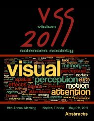 Abstracts - Vision Sciences Society