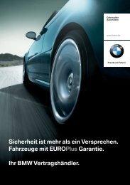 Euro Plus Garantie Sicherheit ist mehr als ein ... - BMW Krauth