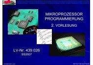Vorlesung 2 (SS07) - Institut für Elektronik, TU-Graz