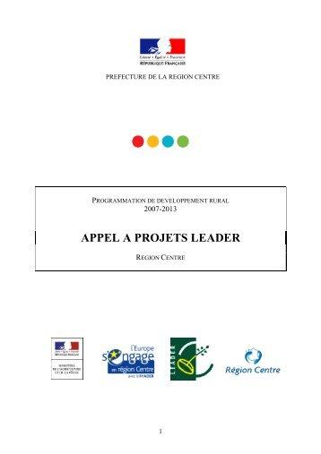 APPEL A PROJETS LEADER - L'Europe s'engage en région Centre