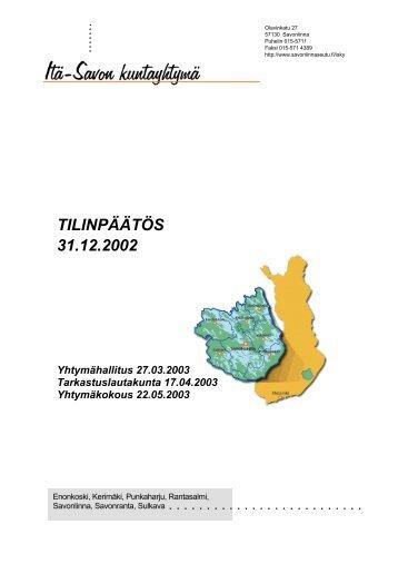 Toimintakertomus 2002 - Asukkaille