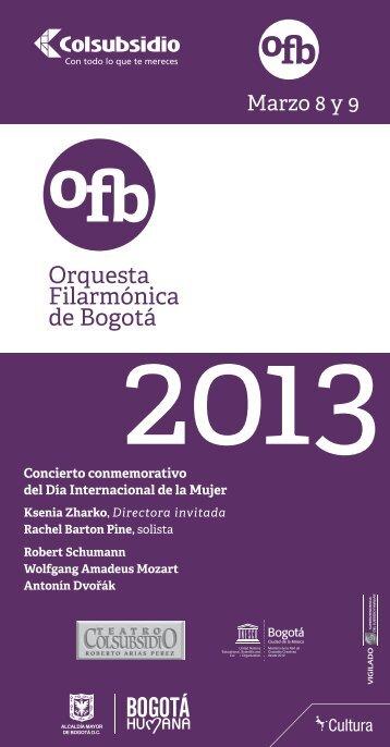 a Orquesta Filarmónic de Bogotá - Orquesta Filarmónica de Bogotá