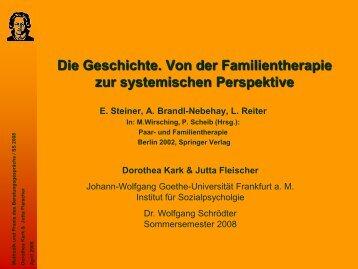 Von der Familientherapie zur systemischen Perspektive - Wolfgang ...