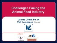 Challenges Facing the Animal Feed Industry