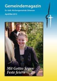 Ausgabe April / Mai 13 - luth. Kirchengemeinde Sittensen