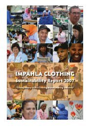 2007 Sustainability Report - Impahla Clothing