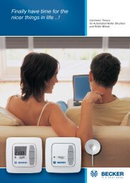 Flyer Timers.pdf - Becker Antriebe GmbH