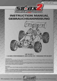 Betriebsanleitung S8 BX2 Verbrenner Buggy LRP 131310