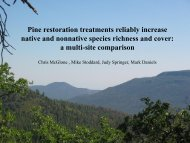Pine restoration treatments reliably increase native and nonnative ...