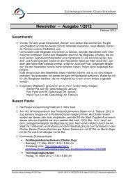 Newsletter Ausgabe 1 2012 - Cham-Ennetsee I