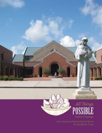 This brochure features current information - St. Anthony of Padua ...
