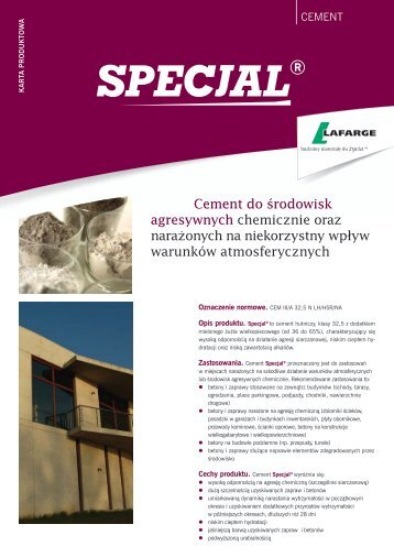 Cement do środowisk agresywnych chemicznie oraz ... - Lafarge