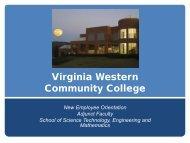 Science, Technology, Engineering & Mathematics - Virginia Western ...