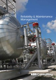 Reliability & Maintenance Management - ABS Consulting