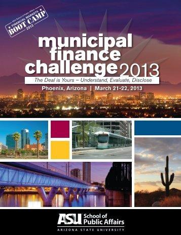 municipal finance challenge2013 - The School of Public Affairs ...