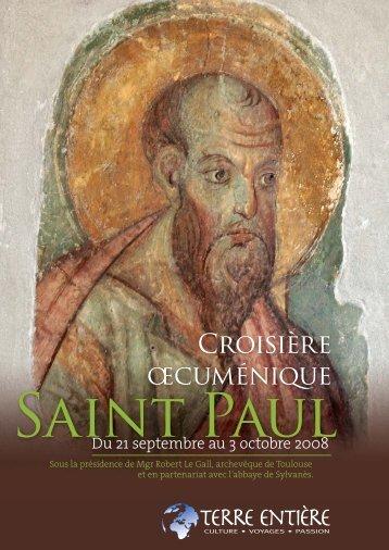 Croisière œcuménique Saint Paul 2008 - Terre Entiere