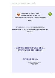 estudio hidrologico de la cuenca del rio nepeña informe final
