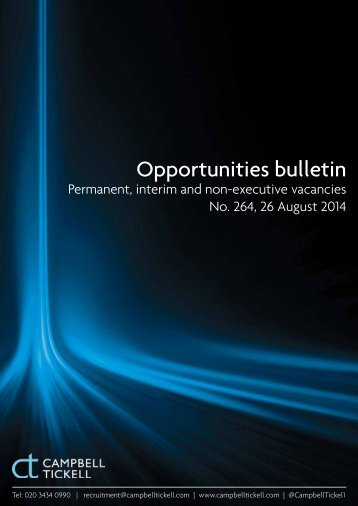 CT Opportunities Bulletin 264 260814