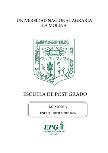 2006 - Universidad Nacional Agraria La Molina