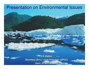 Presentation on Environmental Issues - Delhi