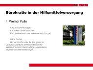 Bürokratie in der Hilfsmittelversorgung (Herr Werner Fulle) - MAIK