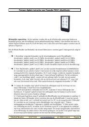 Firmware Update instructies voor Promedia PO541 ... - Teknihall.be