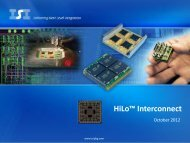 HiLo™ Interconnect - Interconnect Systems, Inc.