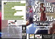 Sexual Violence: The Rights of Learners and Educators - Education ...