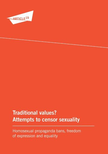Traditional values? Attempts to censor sexuality - Article 19