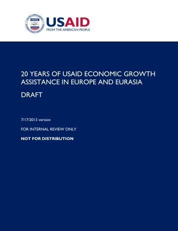20 Years of USAID Economic Growth Assistance in Europe and ...