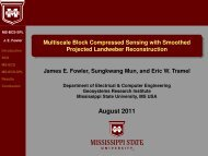 slides - Electrical and Computer Engineering - Mississippi State ...