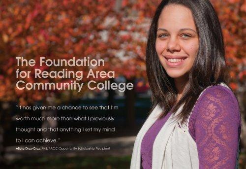 Brochure Reading Area Community College