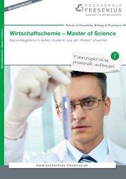 Wirtschaftschemie – Master of Science - Hochschule Fresenius