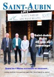 Journal juillet 2009 - Saint-Aubin