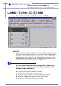 USER'S MANUAL Ladder Editor 32 version 1.2 - Motoman - Page 7