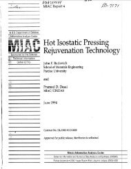 Hot Isostatic Pressing Rejuvenation Technology - Advanced ...