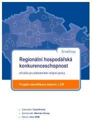 Regionální hospodářská konkurenceschopnost - CzechInvest