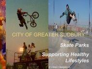 SKATEBOARDING - City of Greater Sudbury