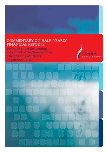 commentary on half-yearly financial reports - Irish Auditing ...