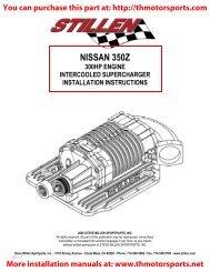 Turbonetics 350Z Turbo Kit Installation Manual 15134-t pdf