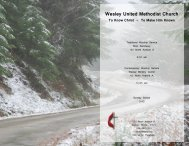 Bulletin Jan 12.pdf - Wesley United Methodist Church