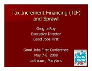 Tax Increment Financing (TIF) and Sprawl - Good Jobs First