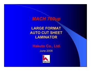 Hakuto Cut Sheet Laminators