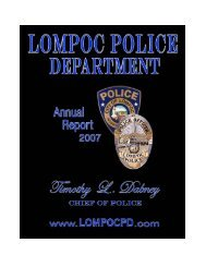 lompoc police department arrests - the City of Lompoc!
