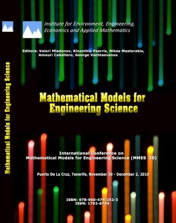 MATHEMATICAL MODELS for ENGINEERING ... - Wseas.us