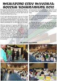 Mayoral Soccer Tournament - Merafong.gov.za