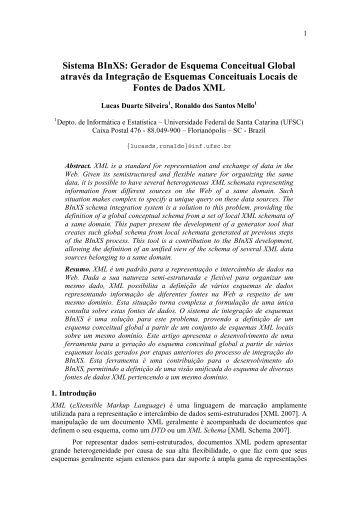 Sistema BInXS: Gerador de Esquema Conceitual Global através da ...