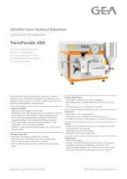 GEA Niro Soavi Twin Panda400 Tech Sheets ENG Rev09 2012